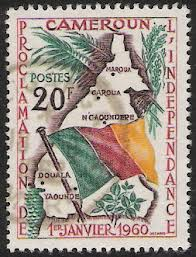 Stamp Commemorating Cameroun's Independence